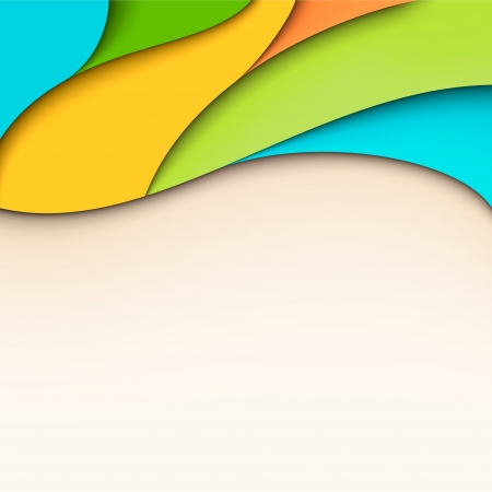 Abstract colorful wavy background with place for text