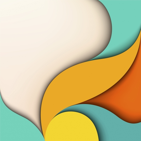 colorful design  Wavy background with place for text Illustration