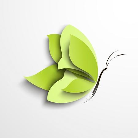 Libro Verde de la mariposa abstracta del diseño Ilustración de vector
