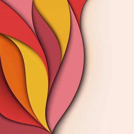 Cover Design Bunte wellig Hintergrund Standard-Bild - 18732374