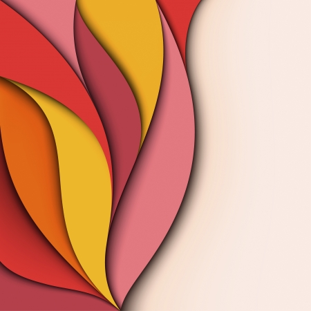 front page: Cover design  Colorful wavy background