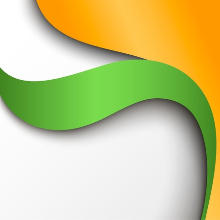 Abstract green and orange paper background  Vector illustration