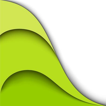 Green wavy background  Vector design