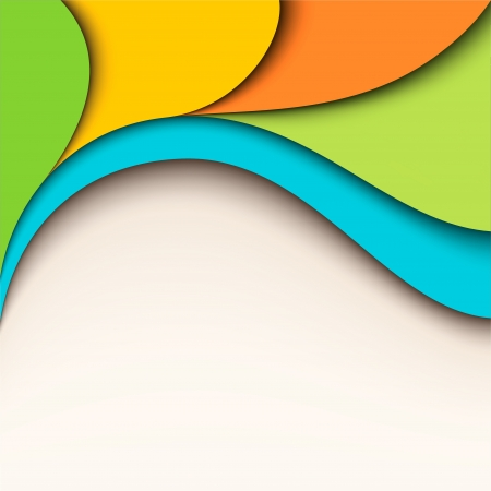Colorful wavy design  Vector background