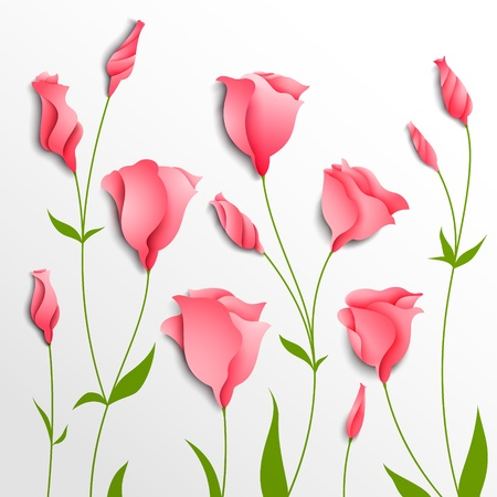 Flower background  Pink eustoma  Floral decor Stock Vector - 19553666
