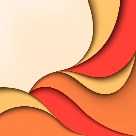 Abstract color background  Paper wavy design Illustration