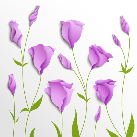 Flower vector background  Lilac eustoma   Floral decor Stock Vector - 20977480