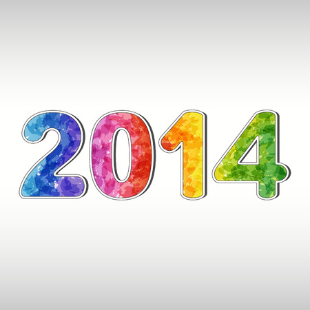 Colorful New year 2014  EPS10 Illustration