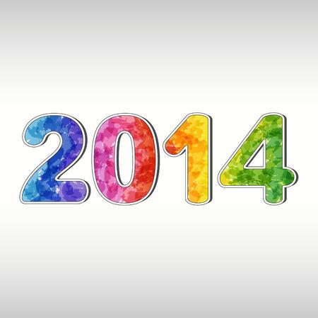 Colorful New year 2014  EPS10 Illustration