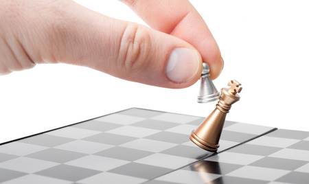 wins: Wins a pawn of the king. business concept