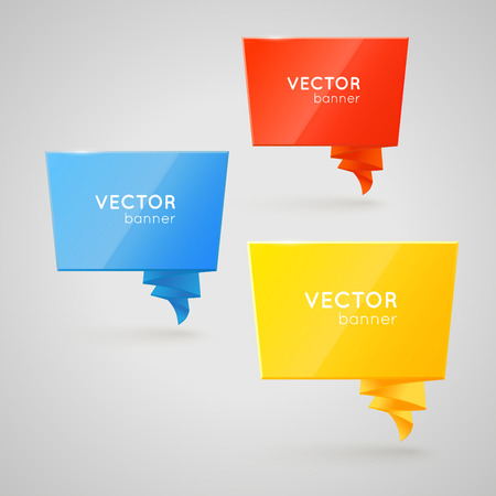 double page: Design vector banner isolated on white background. Creative forms Illustration