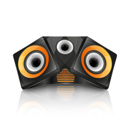 speaker: Realistic music speaker isolated on white background. vector