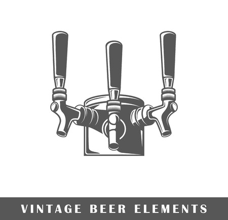 Krany piwa na białym tle ilustracji wektorowych Ilustracje wektorowe