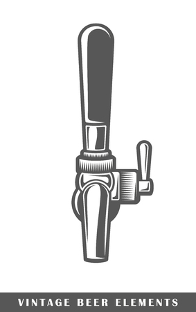 Beer tap isolated vector illustration