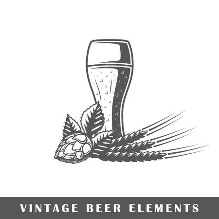 Vintage beer elements Vector illustration