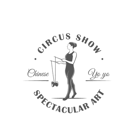 Circus label isolated on white background. Design element. Vector illustration Banque d'images - 114626869
