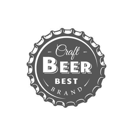 Beer label isolated on white background. Design element. Vector illustration 免版税图像 - 114625706