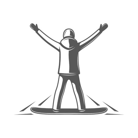 Snowboarder isolated on white background. Vector illustration