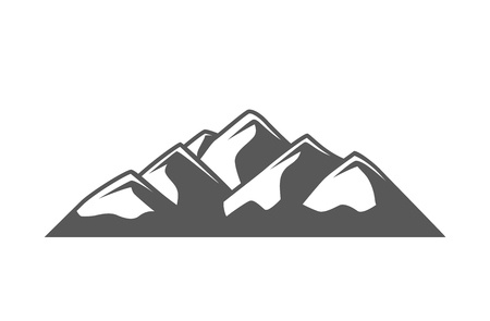 Mountain isolated on white background. Vector illustration