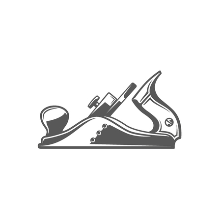 Jointer isolated on white background. Modern carpentry tool. Vector illustration