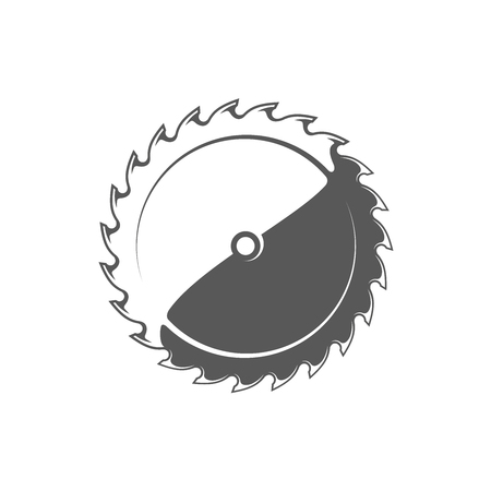 Saw blade isolated on white background. Modern carpentry tool. Vector illustration