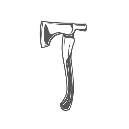 Axe isolated on white background. Modern carpentry tool. Vector illustration