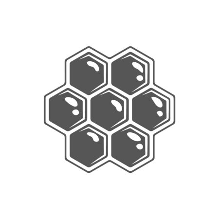 Honeycomb isolated on white background. Vector illustration Иллюстрация