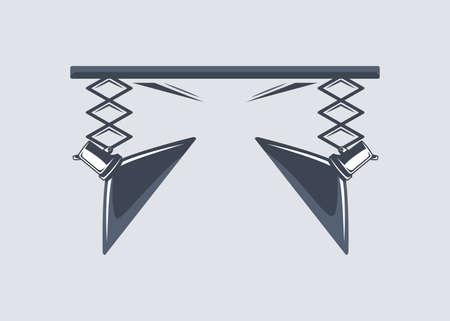 Photo studio element isolated on white background. Vector illustration