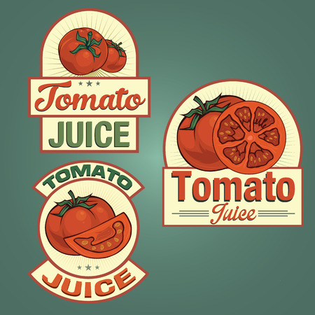 tomato juice: Tomato juice labels set Illustration