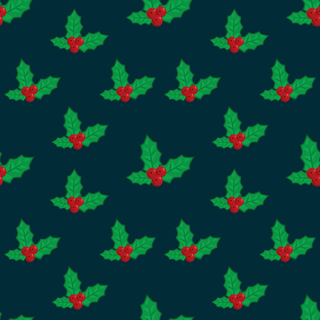 omela: Seamless vector illustration background with christmas symbols Illustration