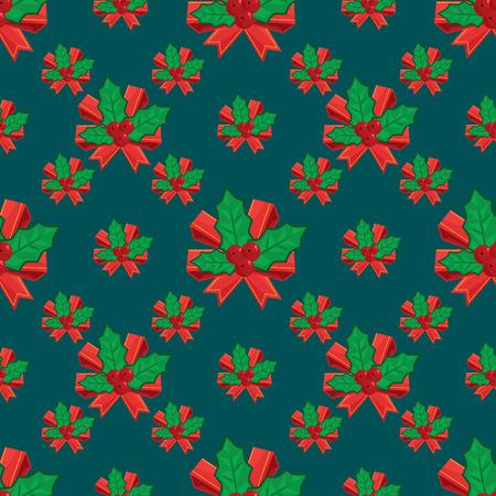 Seamless vector illustration background with christmas symbols Illustration