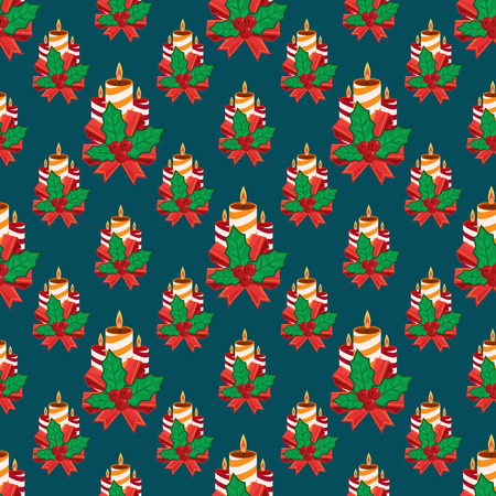 Seamless vector illustration background with christmas symbols Vector
