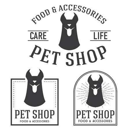 logotypes: Pet shop retro insignias and logotypes collection