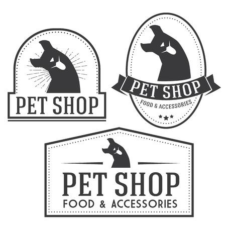 insignias: Pet shop retro insignias collection
