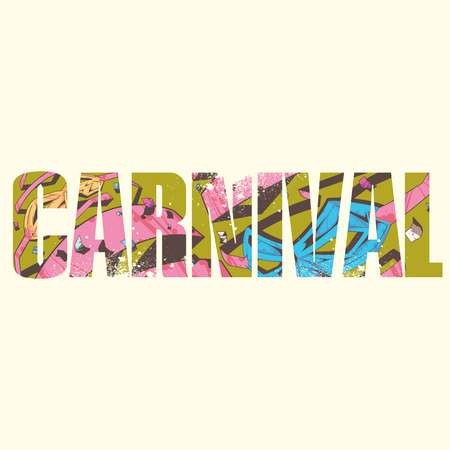 exposure: carnival poster with double exposure effect