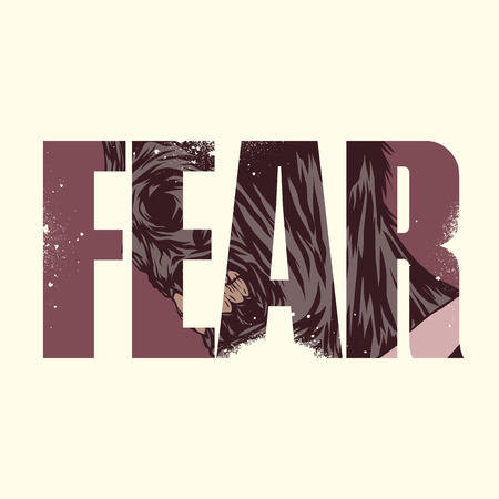 exposure: fear poster with double exposure effect