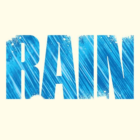 exposure: rain poster with double exposure effect