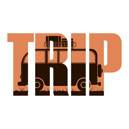 trip: Vector trip  poster with double exposure effect Illustration