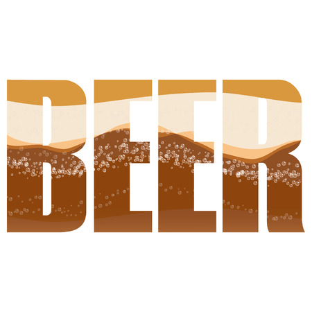 exposure: Vector beer  poster with double exposure effect Illustration