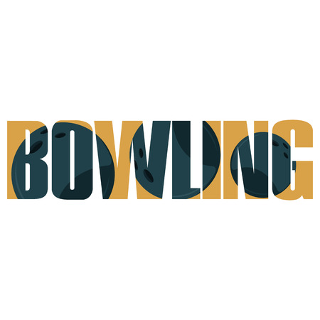 bowling: Vector bowling  poster with double exposure effect Illustration