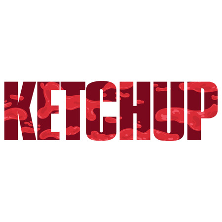 catsup: Vector ketchup  poster with double exposure effect