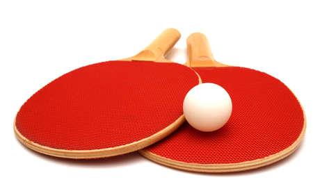 paddles: Ping Pong Paddles and Ball Stock Photo