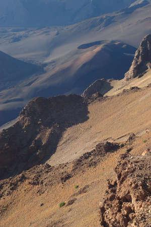 overlook: Haleakala Crater from Kalahaku Overlook Stock Photo