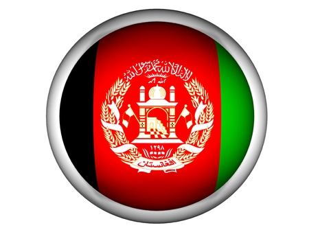 National Flag of Afghanistan | Button Style |  Isolated photo
