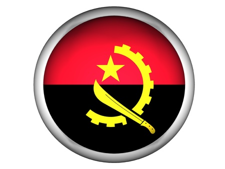 angola: National Flag of Angola   Button Style    Isolated Stock Photo