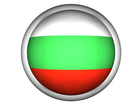 National Flag of Bulgaria   Button Style    Isolated photo