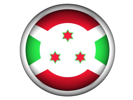 burundi: National Flag of Burundi | Button Style |  Isolated