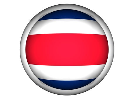 National Flag of Costa Rica | Button Style |  Isolated photo