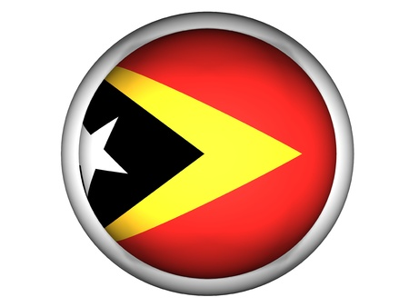National Flag of East Timor | Button Style |  Isolated photo