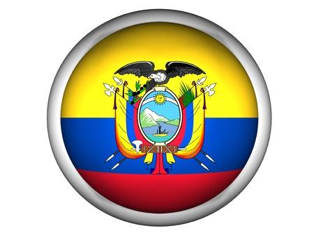 National Flag of Ecuador | Button Style |  Isolated photo
